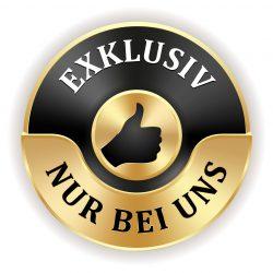 Goldener exklusiv Siegel mit schwarzem Rand